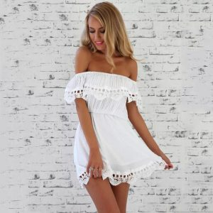 casual-lace-dress-off-the-shoulder-beach-dresses