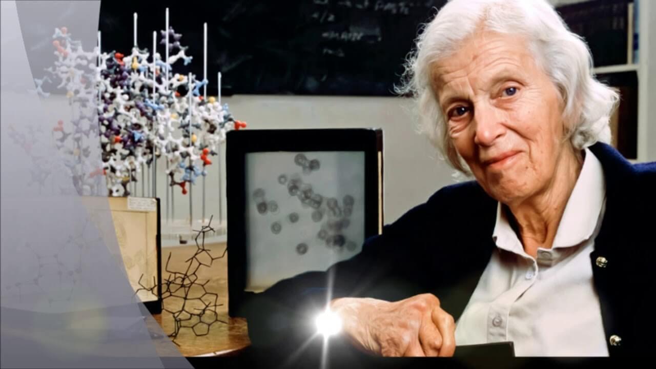Bilimsel buluşları ile moleküller beraber Dorothy Hodgkin.