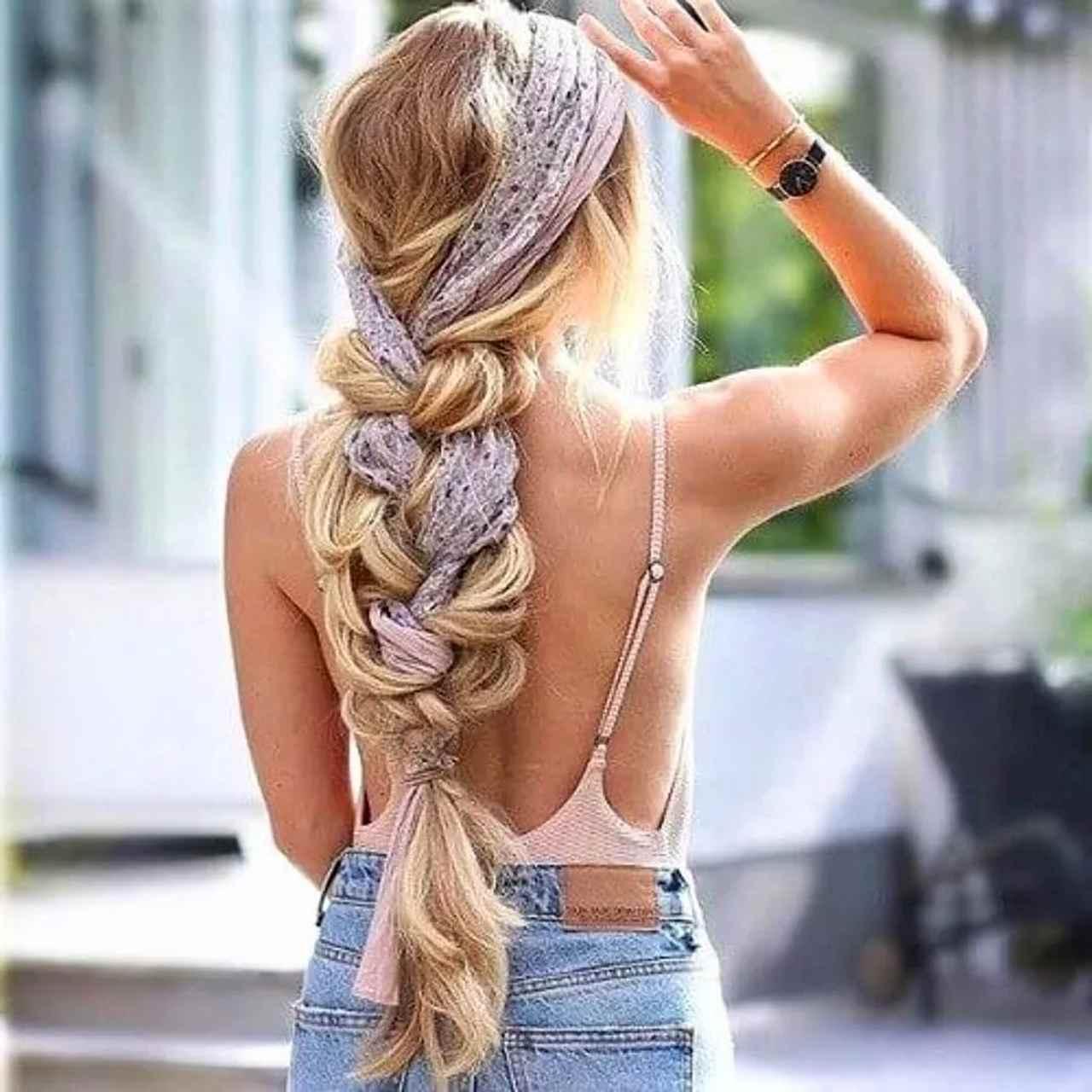 örgülü saç bandı